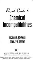 Cover of: Rapid guide to chemical incompatibilities
