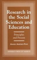 Cover of: Research in the social sciences and education