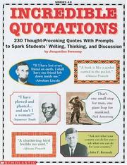 Cover of: Incredible Quotations (Grades 4-8)
