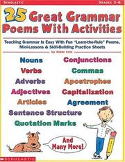 Cover of: 25 Great Grammar Poems with Activities (Grades 3-6)