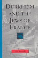 Cover of: Durkheim and the Jews of France