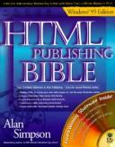 Cover of: HTML publishing bible, Windows 95 edition