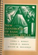 Cover of: New handbook of basic writing skills | Cora L. Robey