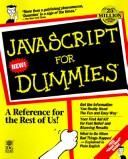 JavaScript for dummies by Emily A. Vander Veer