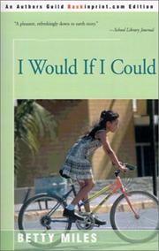 Cover of: I Would If I Could