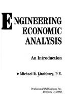 Cover of: Engineering economic analysis