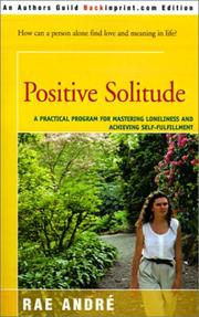 Cover of: Positive Solitude  | Rae Andre