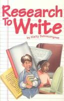 Cover of: Research to write