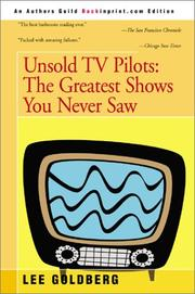 Cover of: Unsold TV Pilots | Lee Goldberg