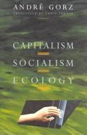 Cover of: Capitalism, socialism, ecology