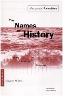 Cover of: The names of history | Jacques RancieМЂre