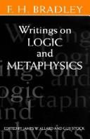 Cover of: Writings on logic and metaphysics