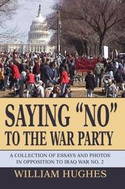 "Cover of: Saying ""No"" to the War Party"