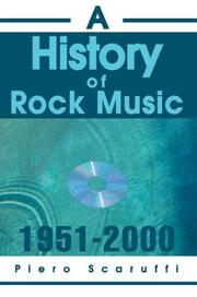Cover of: A History of Rock Music, 1951-2000