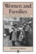 Cover of: Women and families