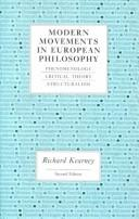Cover of: Modern movements in European philosophy