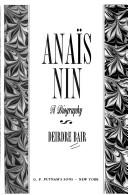 Cover of: Anaïs Nin