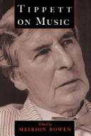 Cover of: Tippett on music