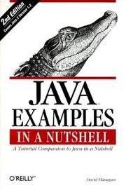 Cover of: Java Examples in a Nutshell (In a Nutshell)
