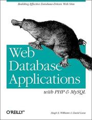 Cover of: Web Database Applications with PHP & MySQL | Hugh E. Williams