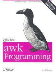 Cover of: Effective awk Programming