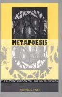 Cover of: Metapoesis