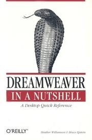 Cover of: Dreamweaver in a nutshell by Heather Williamson
