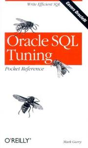 Cover of: Oracle SQL tuning | Mark Gurry