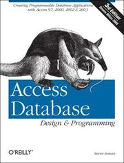 Cover of: Access database design & programming