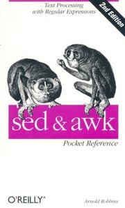 Cover of: sed and awk Pocket Reference