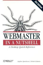 Webmaster in a nutshell by Stephen Spainhour