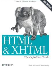 Cover of: HTML and XHTML, the definitive guide | Chuck Musciano
