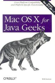 Cover of: Mac OS X for Java geeks | Will Iverson