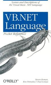 Cover of: VB.NET language pocket reference