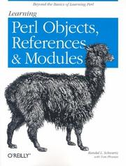 Cover of: Learning Perl objects, references, and modules