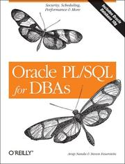 Cover of: Oracle PL/SQL for DBAs