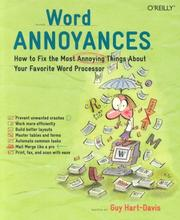 Cover of: Word Annoyances: How to Fix the Most Annoying Things About Your Favorite Word Processor (Annoyances)