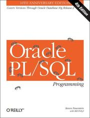 Cover of: Oracle PL/SQL Programming