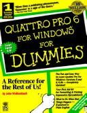 Cover of: Quattro Pro 6 for Windowsfor dummies