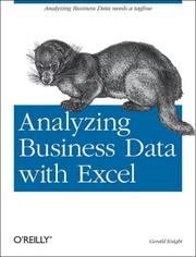 Cover of: Analyzing Business Data with Excel | Gerald Knight