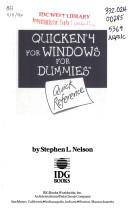 Cover of: Quicken 4 for Windows for dummies