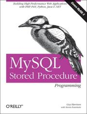 Cover of: MySQL Stored Procedure Programming