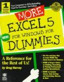 Cover of: More Excel 5 for Windows for dummies