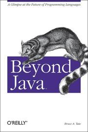 Cover of: Beyond Java | Bruce Tate