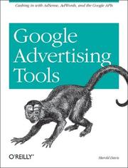 Cover of: Google Advertising Tools by Harold Davis