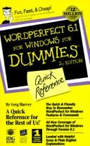 Cover of: WordPerfect 6.1 for Windows for Dummies: quick reference