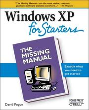 Cover of: Windows XP for Starters by David Pogue