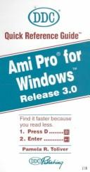 Cover of: Ami Pro for Windows, release 3.0 | Pamela R. Toliver