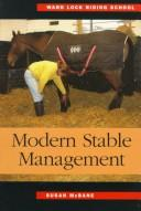 Cover of: Modern stable management
