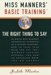 Miss Manners basic training